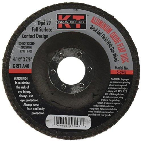 K-T Industries 5-6943 4-12 x 40 Grit Flap Disc