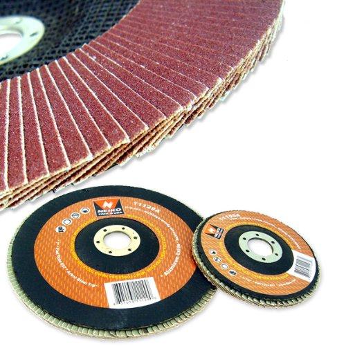 10 New 7 Neiko 40 Grit Sanding Flap Discs Flat Grinding Sanding Wheels