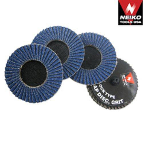 20 Neiko 2 Roloc Sanding Flap Discs Zirconia 120 Grit