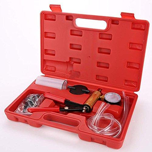 WINOMO Hand Held Vacuum Pumphand held vacuum pump with gauge 2 in 1 Brake Bleeder Vacuum Pump Gauge Test Tuner Kit Tools DIY Hand Tools