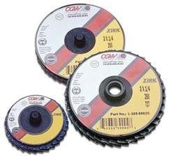 CGW Abrasives 421-30005 2 ROLOC-TYPE T27 ZIR REG 80 GRIT FLAP DISC
