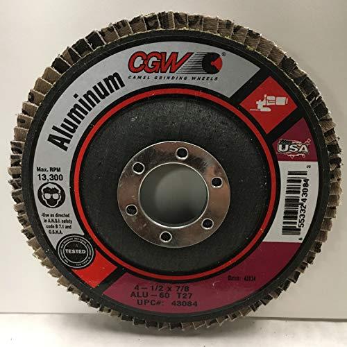 CGW Aluminum 60 Grit Flap Discs 4 12 x 78 - Type 27