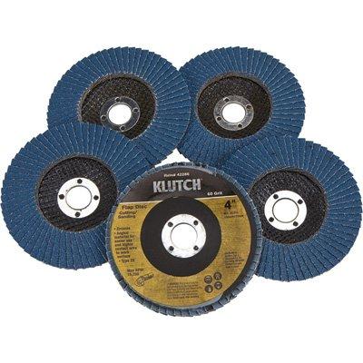 Klutch 4in Flap Discs - 5-Pk Type 29 60 Grit