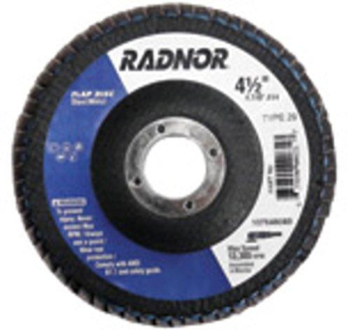 Radnor 4 12 X 78 36 Grit Zirconia Alumina Type 29 Flap Disc  48EA