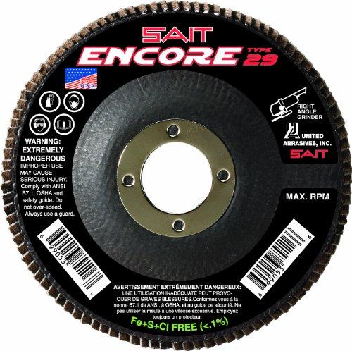 SAIT 79106 Encore Type 29 Flap Disc 4-12 X 78 Z 40X 10 Pack