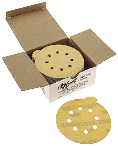 Grizzly H6908 5-Inch Sanding Disc A500-C PSA 8 Hole 50-Piece