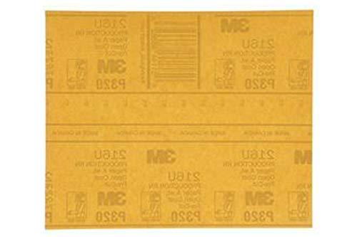 3M 216U Gold Abrasive Sheet 9 inch x 11 inch Aluminum Oxide AO Open Coat A-Weight Paper Backing 5 P400