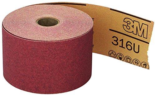 3M Red Abrasive Stikit Sheet Roll 01687 P120 2-34 in x 25 yd