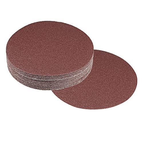 Adiyer 20 Pack 7-inch 80 Grit Hook and Loop Sanding Discs Sandpaper Aluminum Oxide Abrasive