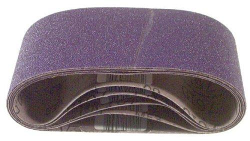 3M 81402 3-Inch x 21-Inch Purple Regalite Resin Bond 100 Grit Cloth Sanding Belt Pack of 5