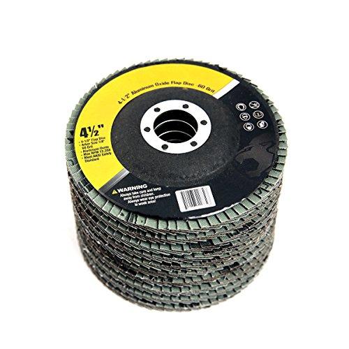 4-12 x 78 Aluminum Oxide Flap Discs 60-Grit Set of 10