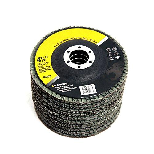 4-12 x 78 Aluminum Oxide Flap Discs 80-Grit Set of 10