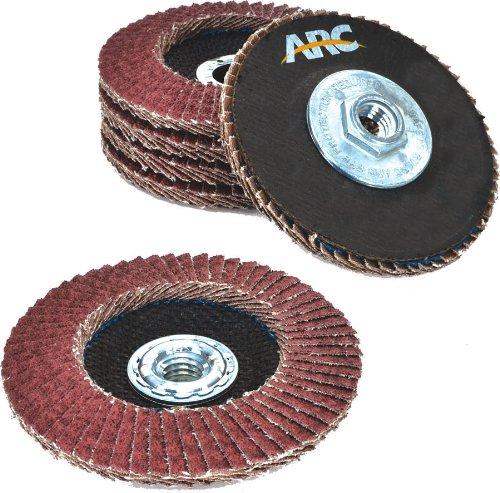 Arc Abrasives 10757AF Type 29 All-Purpose Aluminum Oxide Flap Discs 80 Grit 7-Inch Diameter x 58-11-Inch Arbor Hole 10-Pack