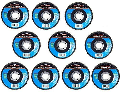 Cal-Hawk Aluminum Oxide Flap Discs 4-12 x 78 x 80 Grit 10-Pack