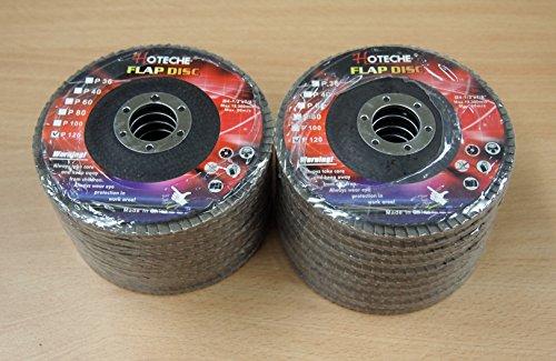 Lot of 20 Aluminum Oxide Flap Disc Grinding wheel 4-12x78 120 Grit