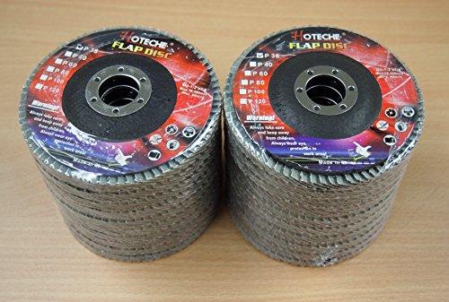 Lot of 20 Aluminum Oxide Flap Disc Grinding wheel 4-12x78 36 Grit