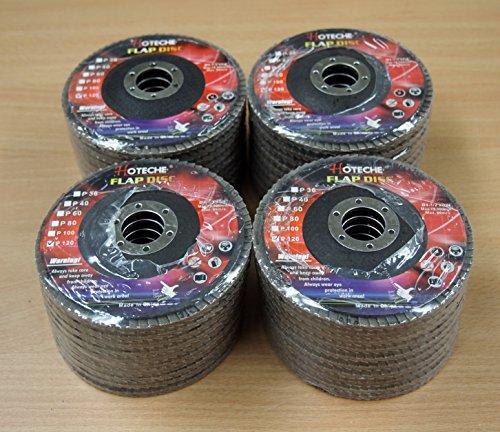 Lot of 40 Aluminum Oxide Flap Disc Grinding wheel 4-12x78 120 Grit