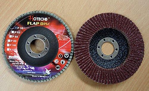 Lot of 40 Aluminum Oxide Flap Disc Grinding wheel 4-12x78 36 Grit