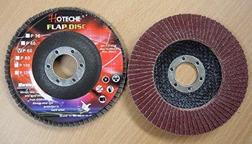 Lot of 40 Aluminum Oxide Flap Disc Grinding wheel 4-12x78 60 Grit