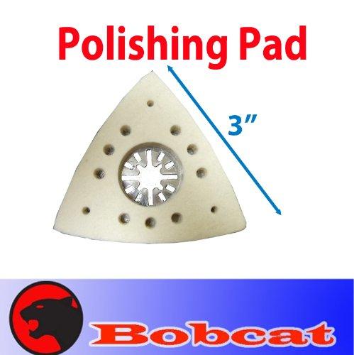 MTP TM Polishing Wool Felt Pad Oscillating Multitool Stone for Fein Multimaster Dewalt Porter Cable Skil Black Decker Makita Bosch Dremel Chicago Milwaukee Multi-max Ridgid Ryobi Skil
