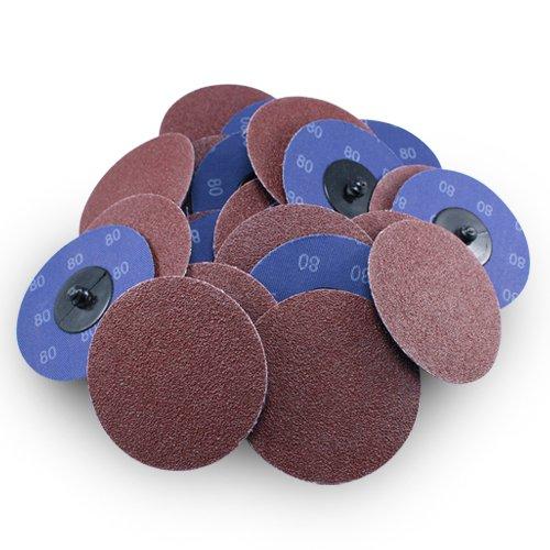 3 Roloc Aluminum Oxide Quick Change Sanding Discs 80 Grit - 25 Pack