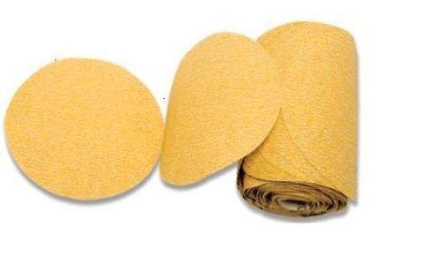 Karebac LR5C220 Premium Gold 5 PSA 220 Grit C-Weight Aluminum Oxide Stearated Sanding Discs 100 DiscsLinkroll