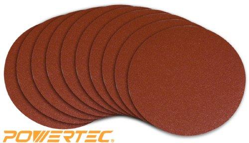 POWERTEC 110580 9-Inch PSA 80 Grit Aluminum Oxide Sanding Disc Self Stick 10-Pack