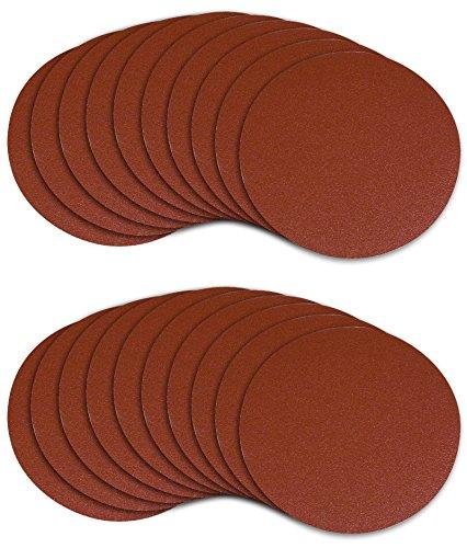 POWERTEC 45508 5-Inch PSA 80 Grit Aluminum Oxide Sanding Disc 20-Pack
