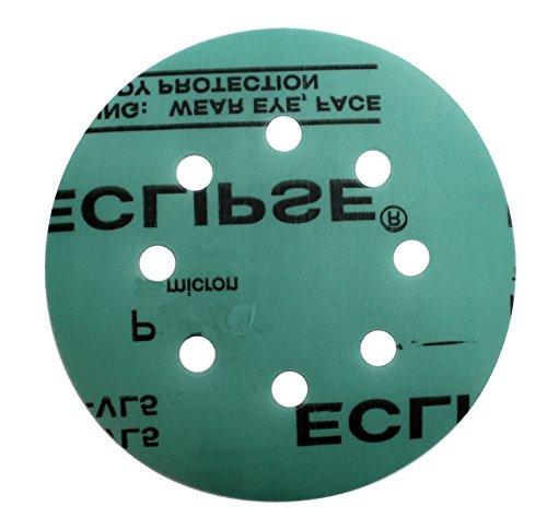 Sungold Abrasives 74794 Eclipse Film Hook Loop Stearated Aluminum Oxide Sanding Discs Fine Grit Assortment 40 Pack 5X8 Hole