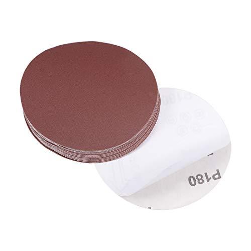 uxcell 5-Inch PSA Sanding Disc Aluminum Oxide Adhesive Back Sandpaper 180 Grit 15 Pcs
