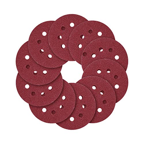 5-Inch 8-Hole Hook and Loop Sanding Discs 4080120240320600800 Assorted Grits Sandpaper - Pack of 70