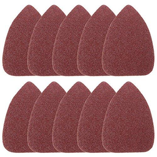 Saver 10pcs 100mm Triangle Sandpaper Velcro Sanding Sheets Mouse Sander Pads