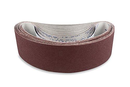 4 X 36 Inch 800 Grit Flexible Aluminum Oxide Premium Quality Sanding Belts 6 Pack