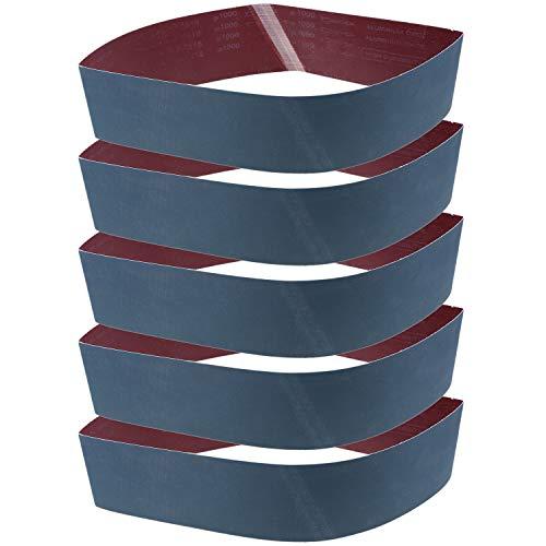 Langoo 4 x 36 Inch Sanding Belts 1000 Grit Aluminum Oxide Sander Belt Premium Sandpaper - 5 Pack