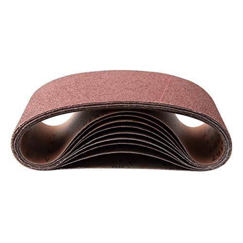 POWERTEC 11011-5 4 x 36-Inch Aluminum Oxide Sanding Belt Assortment 3 Each of 4080 120150 240 Grits 15PK