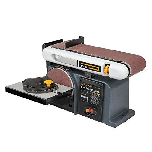 POWERTEC BD4600 Belt Disc Sander For Woodworking  4 In x 36 in Belt Sander with 6 In Sanding Disc