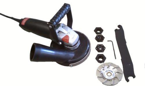 5 GV Assy wConvertible Shroud 8 Amp 10000 RPM Metabo Grinder 45 10-Seg Cup Wheel Loop Handle Adapter Nuts