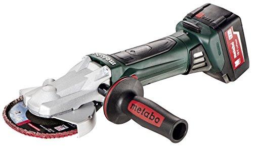 Metabo WF 18 125 LTX 52 5-Inch 18V Cordless Flat Head Angle Grinder 52Ah Kit GreenBlack