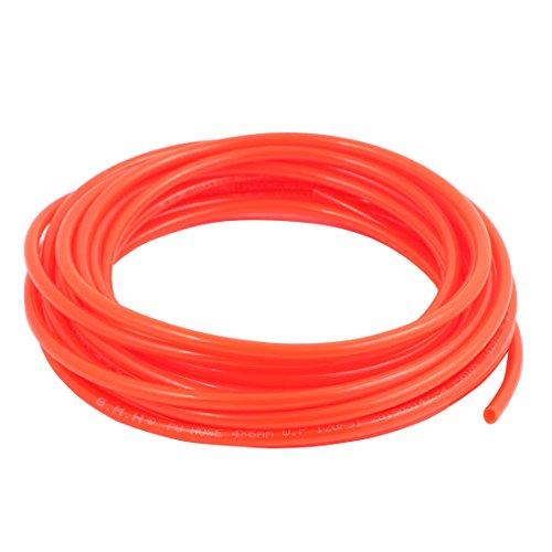 uxcell 4mm x 6mm Pneumatic Air Compressor Tubing PU Hose Tube Pipe 7 meter Orange