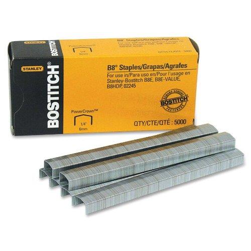 Bostitch B8  PowerCrown  Premium Staples 025 Inch Leg Full-Strip STCR211514