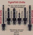 Drill Bits Short Length Threaded Shank Combo Series Drill Bit Set 1 Tight Fit Tools 00131