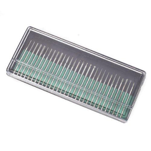 TOOGOOR 30Pcs 23mm Shanks Diamond Drill Bits for Nail Drills