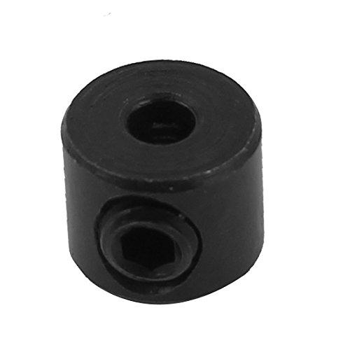 3mm Internal Dia Woodworking Drill Bit Depth Stop Collar Black