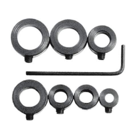 Drill Stop Bit Collar Set - 18 to 12 - 7-Piece
