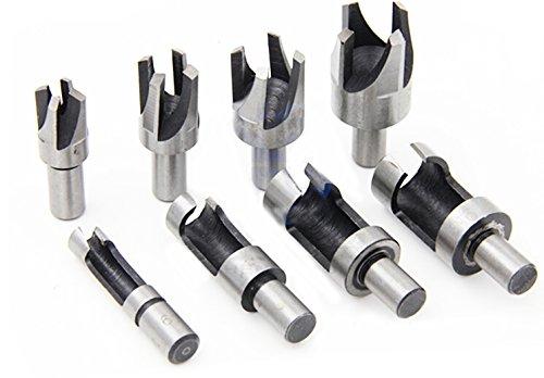 8pcs 58 12 38 14 HSS Taper Claw Type Wood Plug Cutter Drill Bits
