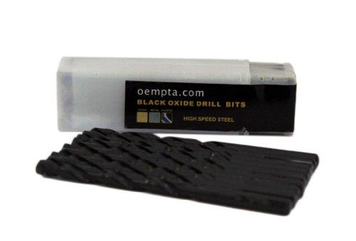 18-Inch Drill Bit Black Oxide Jobber Length 10 Pack