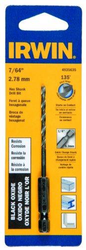 Irwin Tools 4935635 Black Oxide Hex Shank Drill Bit 764-Inch