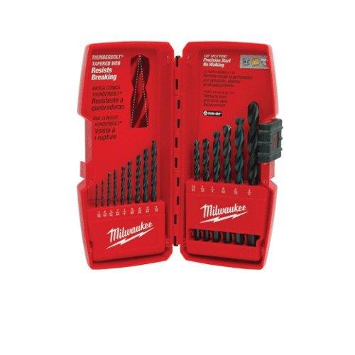 Power Tools Milwaukee 48-89-2803 15-Piece Thunderbolt Black Oxide Drill Bit Set