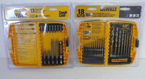 Dewalt DW2160 and DW1958 Combo 18 drill bits 13 driver bits combo - NEW