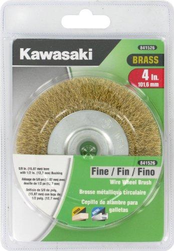 Kawasaki 841526 Fine Wire Wheel Brush 58-Inch Bore with 12-Inch Bushing 4-Inch Brass